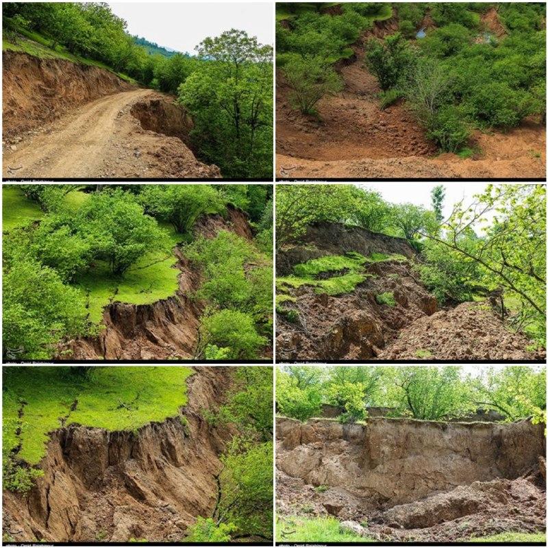 رانش زمین در رحیم آباد -گیلان
