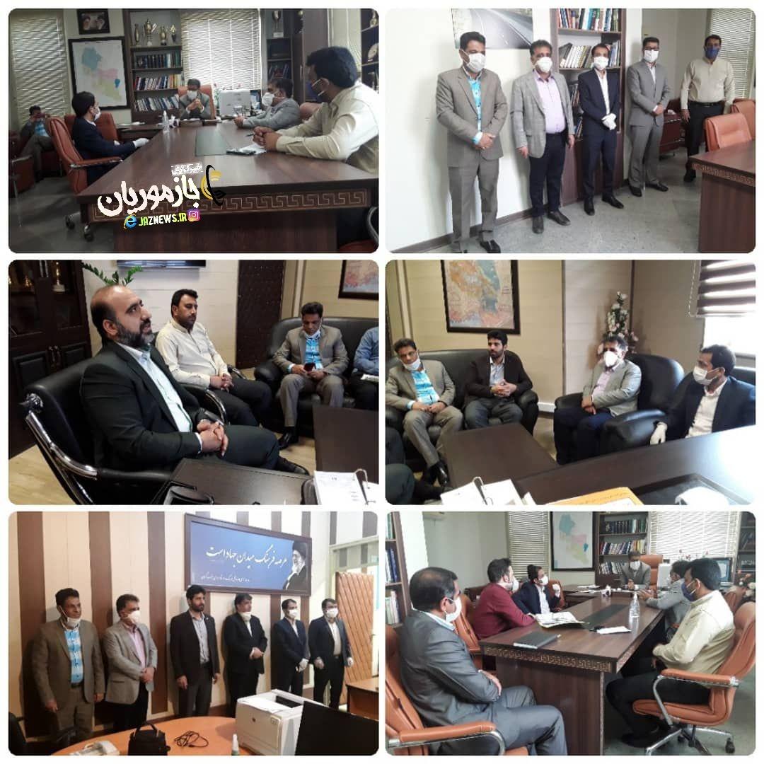 دیدار فرماندار و شهردار قلعه گنج  با مهندس ساردوئی مدیرکل مسکن و شهرسازی