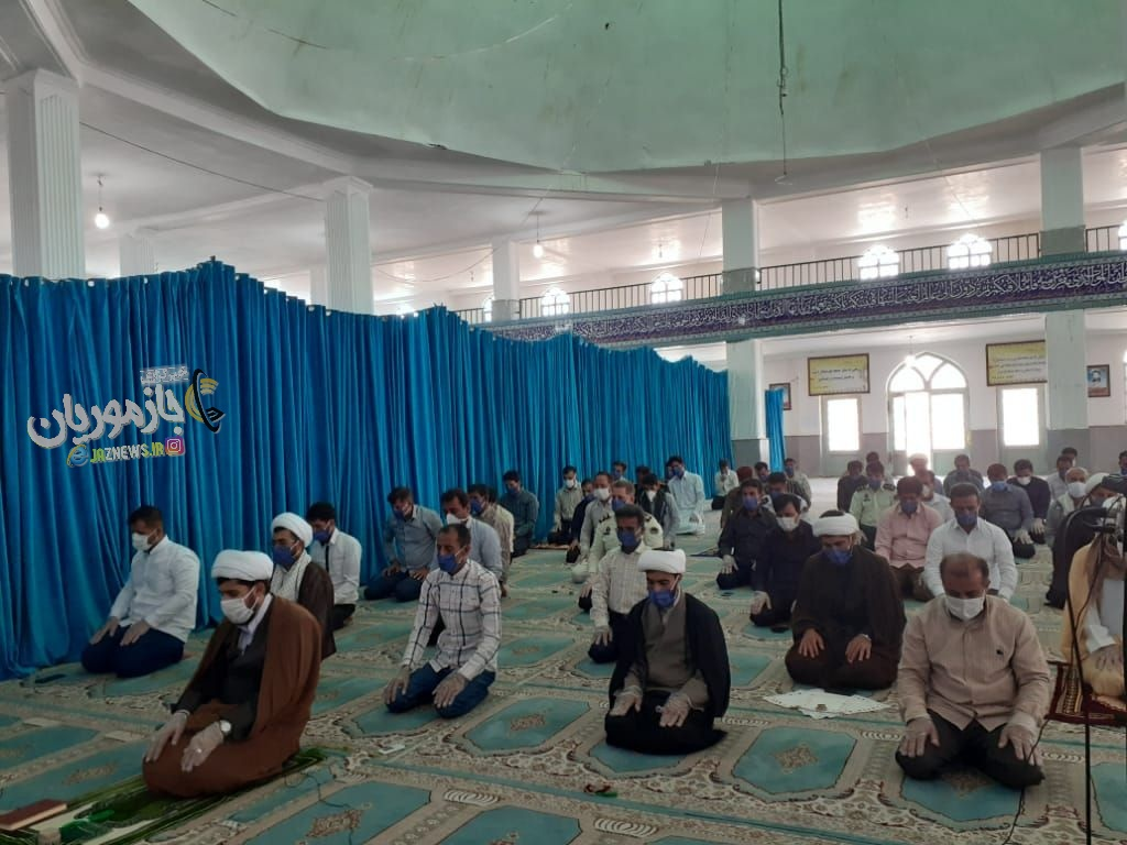 برگزای اولین نماز جمعه شهرستان قلعه گنج بعد از شیوع ویروس کرونا