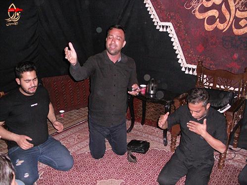 مراسم احیاء شب 19 رمضان هیئت زوارالحسین در حسینیه شهیددولت آبادی