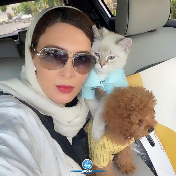 لیلا بلوکات در محاصره سگ و گربه ها +عکس