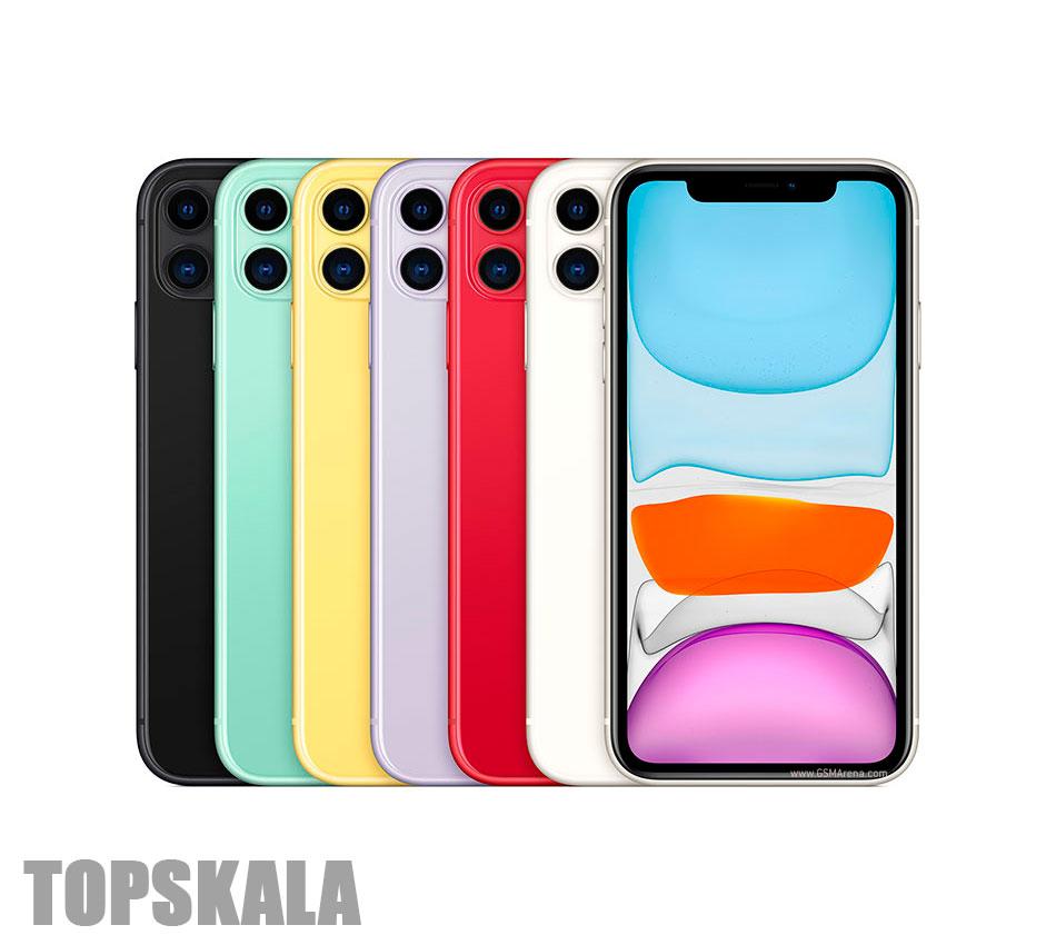 گوشی موبایل آکبند اپل مدل iPhone 11 دو سیم کارت حجم 128 گیگابایت