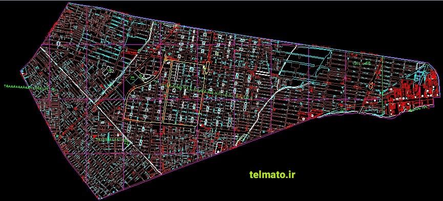 دانلود رایگان نقشه های اتوکد utm و کاداستر تهران کلیه منظقه ها DWG تلماتو autocad نقشه های هوایی تهران