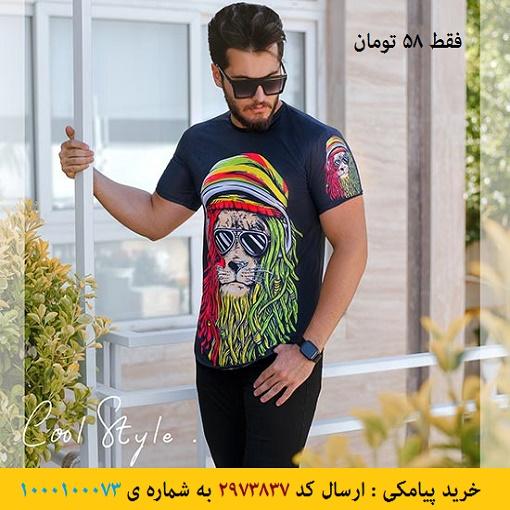 خرید پیامکی تیشرت مردانه مدل Maned