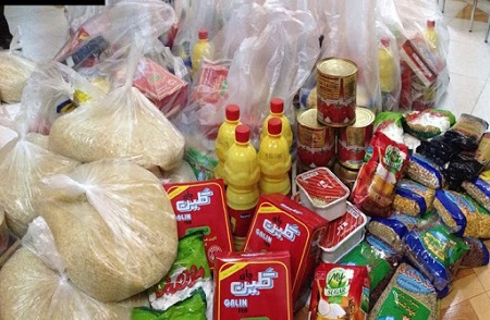 بیست بسته معیشتی بین نیازمندان توزیع شد