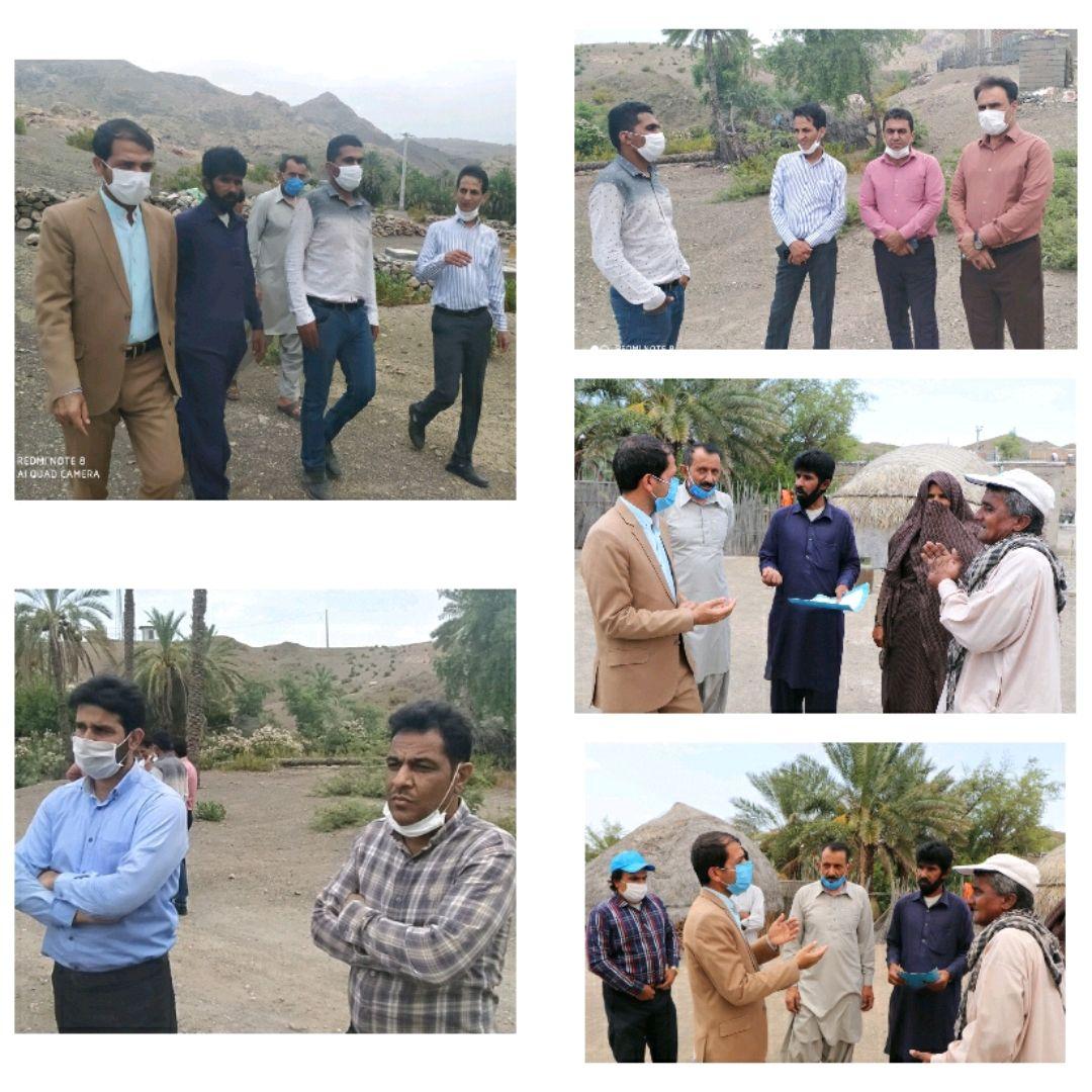 بازدید فرماندار شهرستان قلعه گنج از روستای شهکهان و دیدار با اهالی این روستا