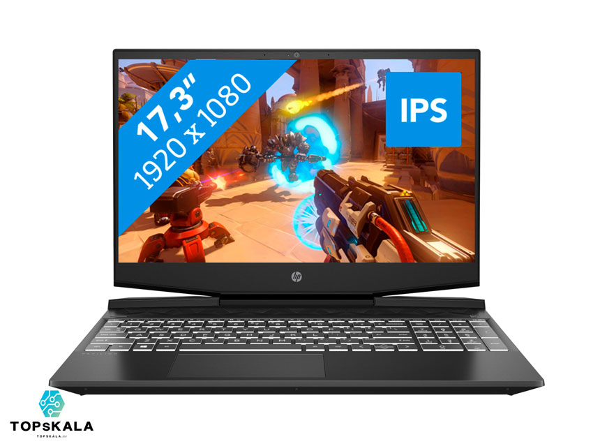 لپ تاپ استوک اچ پی مدل HP Pavilion Gaming 17 CD0085CL با مشخصات CPU i7 9750H-RAM 16GB DDR4-HARD 256GB SSD + 1TB HDD-GPU 6GB nVidia GTX 1660Ti - تاپس کالا - laptop-stock-hp-model-Pavilion-Gaming-17-CD0085CL-CPU-i7-9750H-RAM-16GB-DDR4-HARD-256GB-SSD-1TB-HDD-GPU-6GB-nVidia-GTX-1660Ti