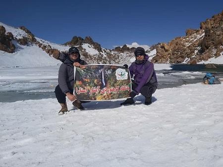 کوهنوردان آستارایی به قله ۴۸۱۱ متری سبلان صعود کردند
