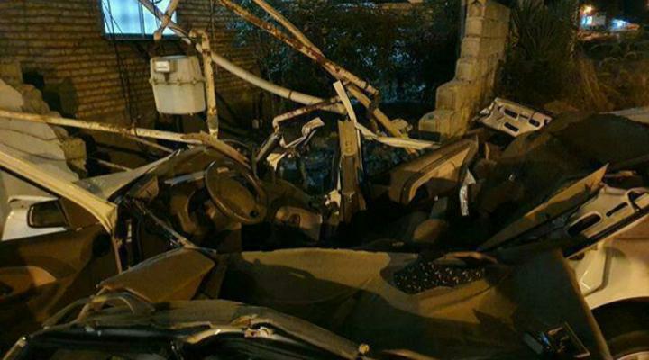 برخورد خودرو به دیوار باعث مرگ ۲ نفر شد